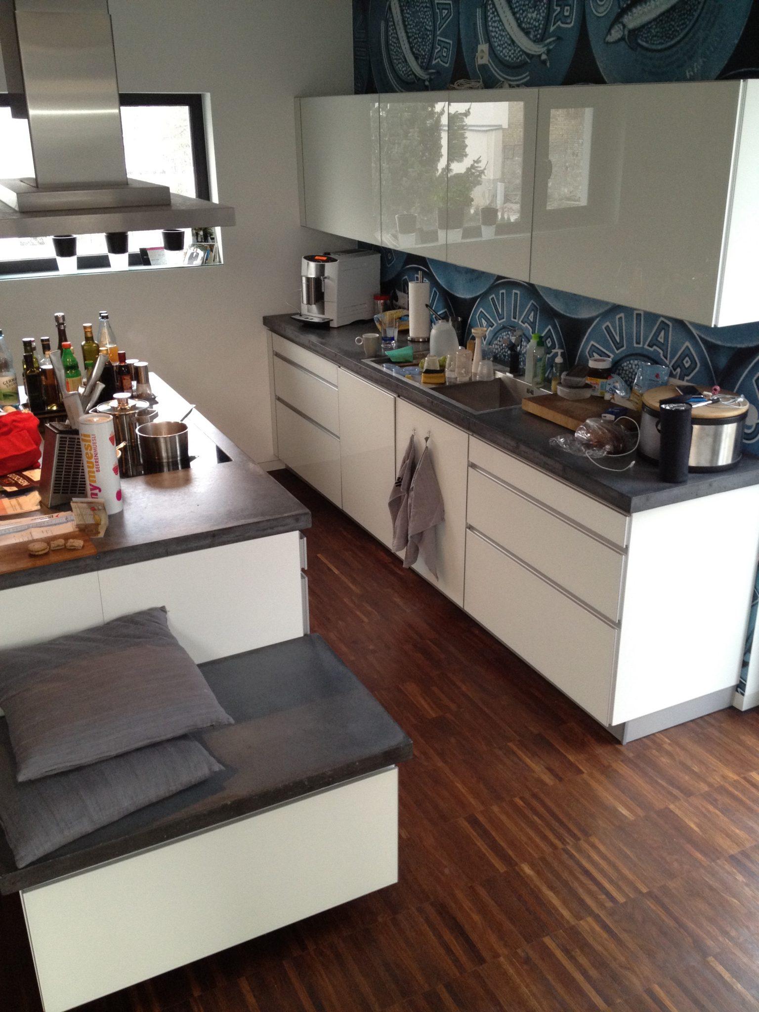 Küchenarbeitsplatte aus Beton | Holz und Beton