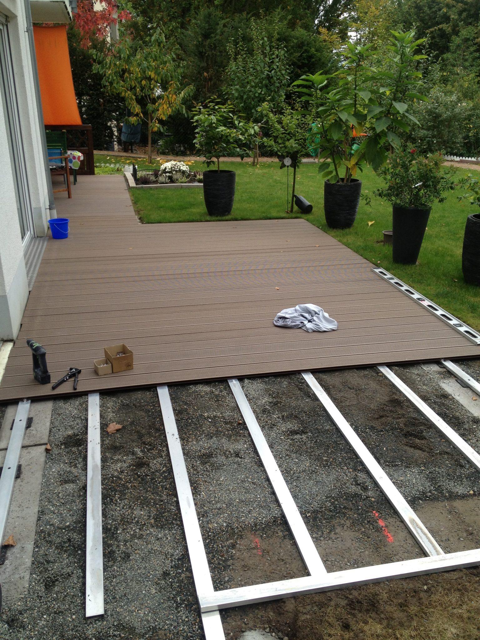 Barrierefreie Terrasse   Holz und Beton